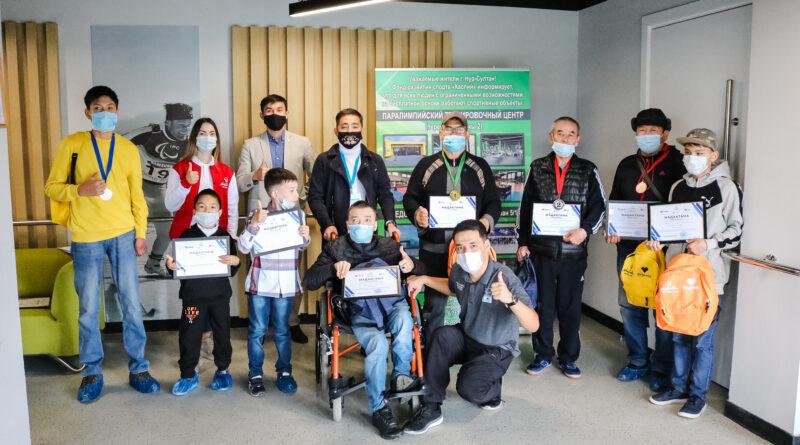 Столичные волонтеры провели спортивные соревнования в Паралимпийском тренировочном центре
